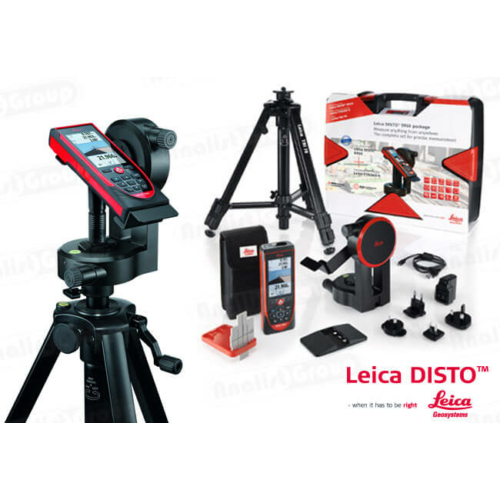 Leica DISTO S910 + FTA360-S adapter + TRI120 állvány kofferban