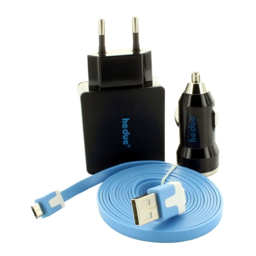Micro-USB töltő hálózati és autós adapterrel S2/S3 forgólézerhez
