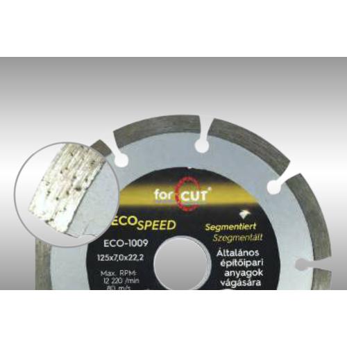 ECO SPEED szegmentált gyémánttárcsa 125 x 2,0 x 7,0 x 22,2mm