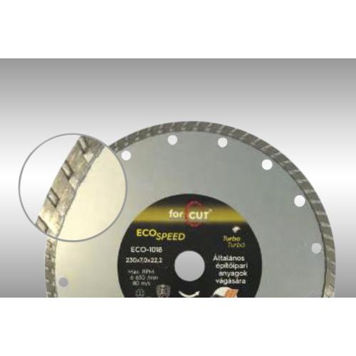 ECO SPEED turbo gyémánttárcsa 115x 2,6 x 7,0 x 22,2mm