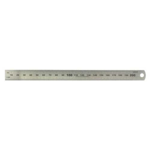 Acél vonalzó - 200 mm