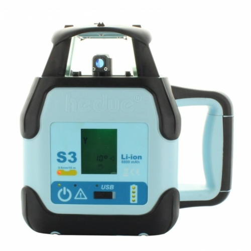 hedue S3 digitális forgólézer Li-Ion akkuval - vízszintes/függőleges