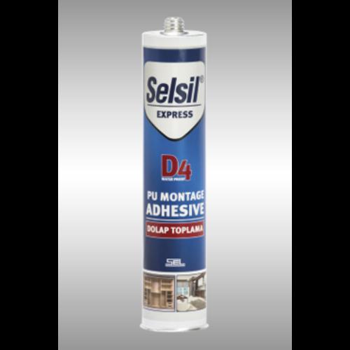 Selsil D4 express pur ragasztó 300ml átlátszó