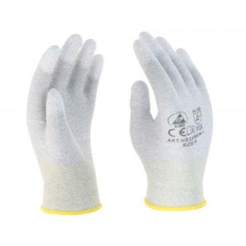 Carbon ESD PU ujjvég mártott kesztyű