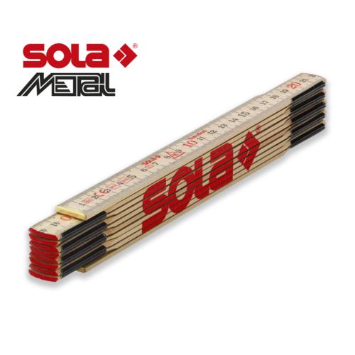 Fa mérővessző 2 m H 2/10 (VE 10 Stk.)