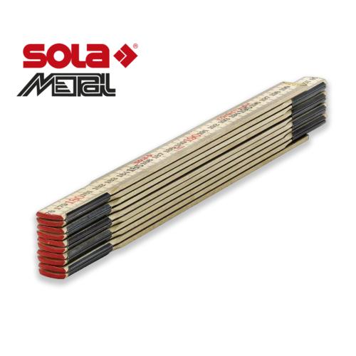 Fa mérővessző 2 m HC 2/10 Kontaktmeter