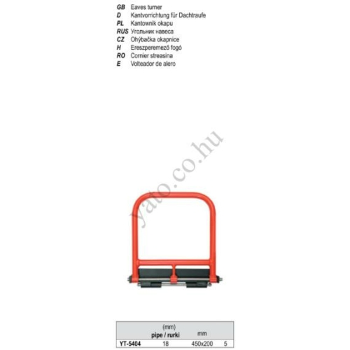 Falclezáró fogó 450x200mm , 18 Ø mm